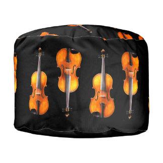 Taburete de la viola - decoración para el jugador puf redondo
