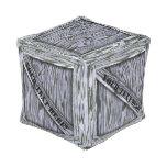 Taburete del cubo del cajón de madera de la puff cuadrado