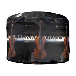 Taburete del violín puf redondo