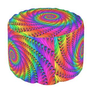 Taburete espiral del arco iris
