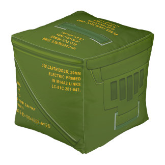 Taburete militar de la caja de la munición