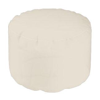 Taburete redondo blanco del hueso puf redondo