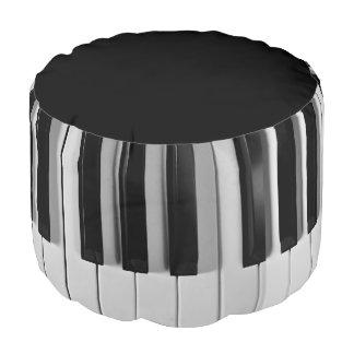 Taburete redondo de encargo del teclado de piano puf redondo
