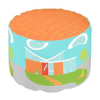 Taburete redondo de la casa moderna del dibujo puf redondo