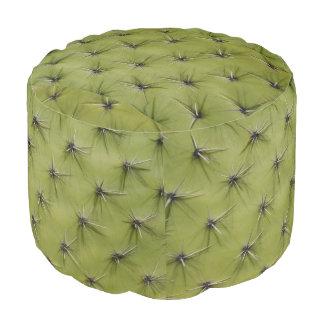 Taburete redondo del cactus espinoso verde de la puf redondo
