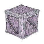 Taburete rosado del cubo del cajón de madera puff cuadrado