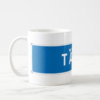 Taby, señal de tráfico sueca taza de café