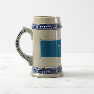 Taby, Swedish road sign 18 Oz Beer Stein