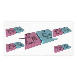 Tace as Ta Tantalum and Ce Cerium Personalized Photo Card