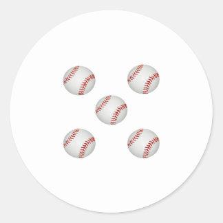Tacha americana del béisbol pegatina redonda