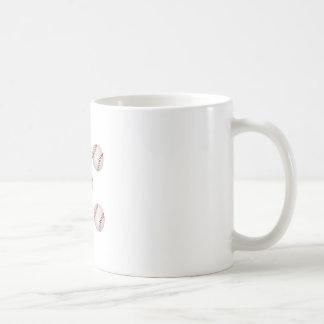 Tacha americana del béisbol taza de café