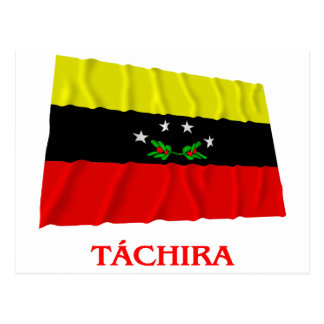 Táchira Waving Flag with Name Postcard