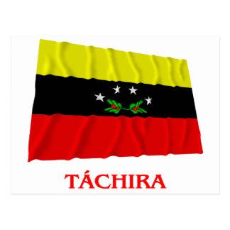 Táchira Waving Flag with Name Postcard