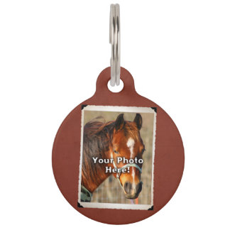 Tachuela del caballo o etiqueta adaptable de la ma identificador para mascotas