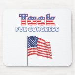 Tachuela para la bandera americana patriótica del  tapetes de ratón