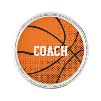 Tachuela personalizada del baloncesto insignia