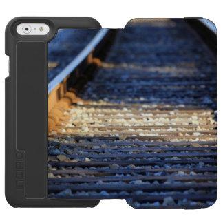 Tachuelas del tren funda billetera para iPhone 6 watson