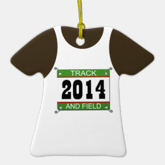 Tack and Field Singlet Ornament - 2014