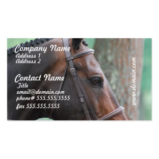 Tacked Dark Bay Horse Business Cards