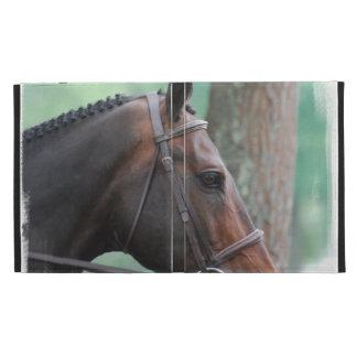 Tacked Dark Bay Horse iPad Case