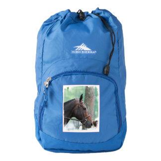 Tacked Dark Bay Horse Backpack