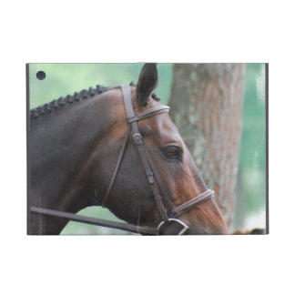 Tacked Dark Bay Horse iPad Mini Cover