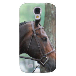 Tacked Dark Bay Horse iPhone 3G Case Samsung Galaxy S4 Case