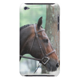 Tacked Dark Bay Horse iTouch Case iPod Touch Cases