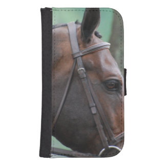 Tacked Dark Bay Horse Phone Wallet Case