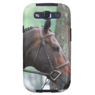 Tacked Dark Bay Horse Samsung Galaxy Case Samsung Galaxy SIII Cover