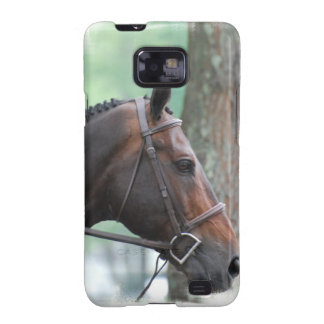 Tacked Dark Bay Horse Samsung Galaxy Case Samsung Galaxy SII Covers