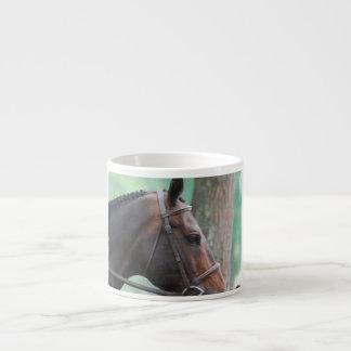 Tacked Dark Bay Horse Specialty Mug Espresso Mugs