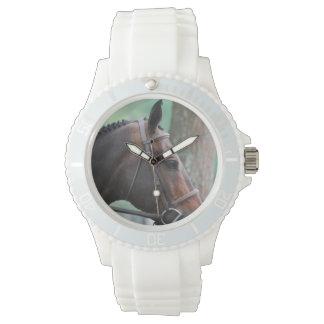 Tacked Dark Bay Horse Wrist Watches