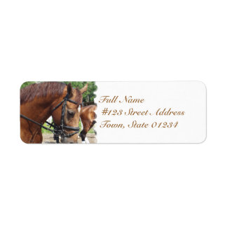 Tacked Draft Horse Mailing Labels