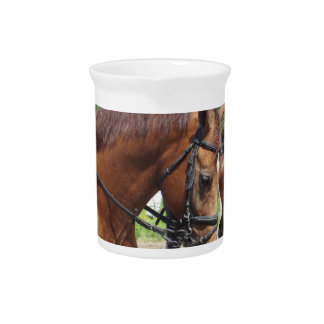 Tacked Draft Horse Pitcher