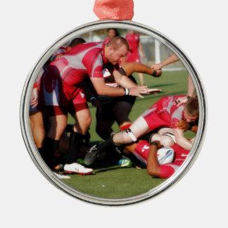 Tackel Round Metal Christmas Ornament