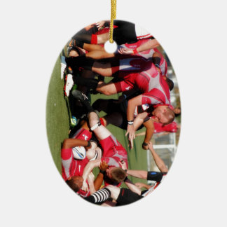 Tackel Double-Sided Oval Ceramic Christmas Ornament