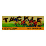 Tackle Grape Label Poster