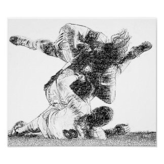 Tackle! - Rugby Print