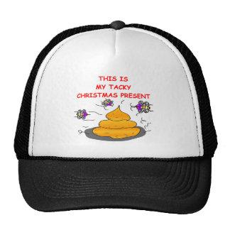 tacky christmas present trucker hats