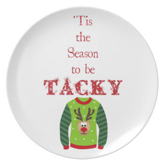 Tacky Christmas Sweater Holiday Plate