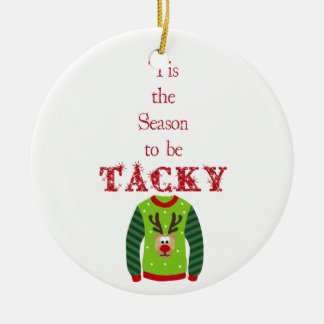 Tacky Christmas Sweater Ornament
