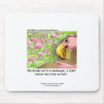 Tacky Pink Flamingos Funny Mouse Pad Mousepad