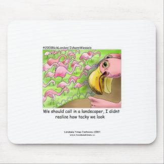 Tacky Pink Flamingos Funny Mouse Pad