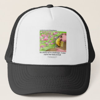 Tacky Pink Flamingos Truckers Cap