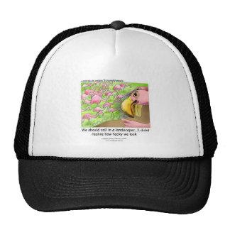 Tacky Pink Flamingos Truckers Cap Trucker Hat