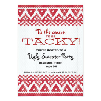 Tacky Sweater Party 5x7 Paper Invitation Card
