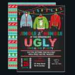 """Tacky Ugly Sweater Christmas Party Invitation<br><div class=""""desc"""">Invite your guests to jingle and mingle with this this tacky ugly sweater Christmas party invite!</div>"""