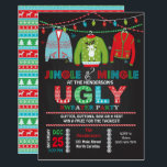 "Tacky Ugly Sweater Christmas Party Invitation<br><div class=""desc"">Invite your guests to jingle and mingle with this this tacky ugly sweater Christmas party invite!</div>"