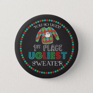 Tacky Ugly Sweater Contest Award Button